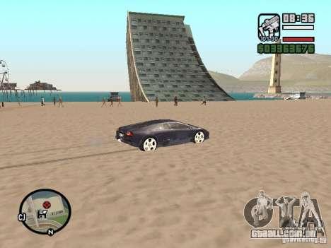 Viagens sobre o oceano (versão Beta) para GTA San Andreas por diante tela