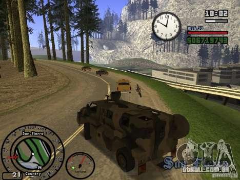 Australian Bushmaster para GTA San Andreas vista traseira