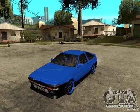 Toyota Corolla AE86 para GTA San Andreas