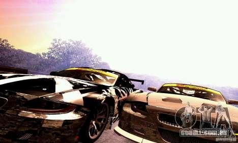 BMW Z4 E85 M GT 2008 V1.0 para GTA San Andreas vista superior