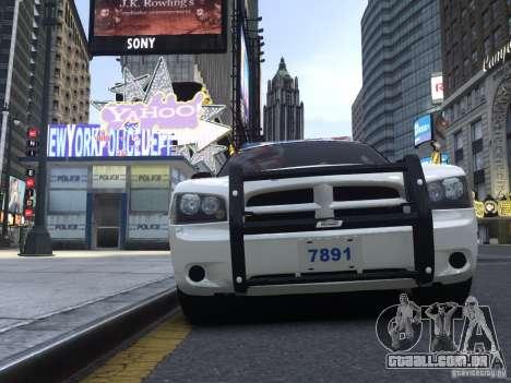 Dodge Charger NYPD para GTA 4 esquerda vista