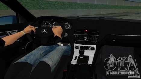 Mercedes-Benz C63 AMG 2010 para GTA Vice City vista traseira esquerda