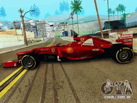 Ferrari F2012 para GTA San Andreas esquerda vista