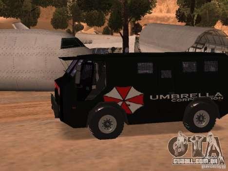 AM 7.0 Umbrella Corporation para GTA San Andreas esquerda vista