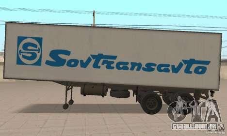 Sovtransavto Trailer para GTA San Andreas traseira esquerda vista