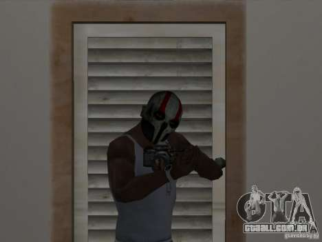 Army of Two Mask Skull para GTA San Andreas segunda tela