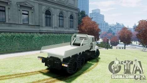 KrAZ-6322 para GTA 4 esquerda vista
