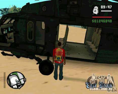 Blackhawk UH60 Heli para GTA San Andreas vista interior