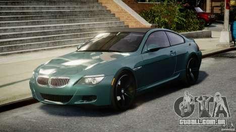 BMW M6 2010 v1.5 para GTA 4 vista de volta