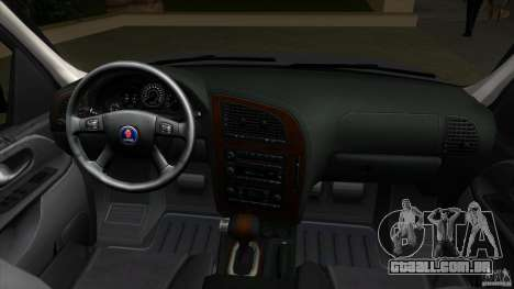 SAAB 9-7X para GTA Vice City vista traseira
