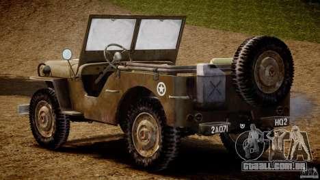 Jeep Willys [Final] para GTA 4 vista direita