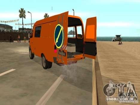 Gazela 2705 highway patrol para GTA San Andreas vista direita