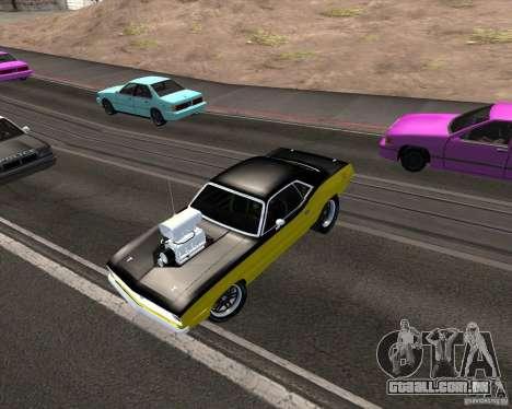 Plymouth Hemi Cuda 440 para GTA San Andreas vista inferior