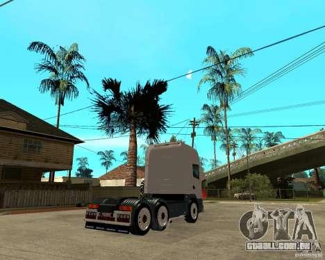 Scania 164L 580 para GTA San Andreas traseira esquerda vista