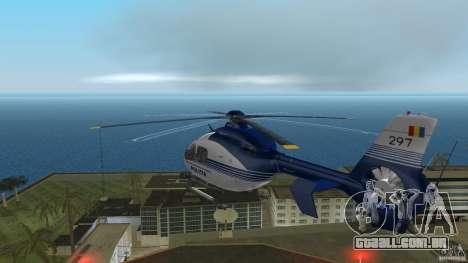 Eurocopter Ec-135 Politia Romana para GTA Vice City vista traseira