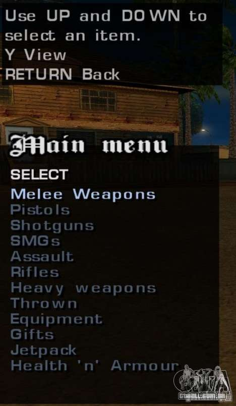 Todas as armas para GTA San Andreas