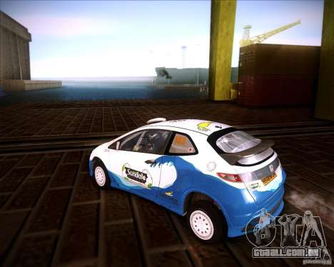 Honda Civic Type-R (Rally team) para GTA San Andreas esquerda vista