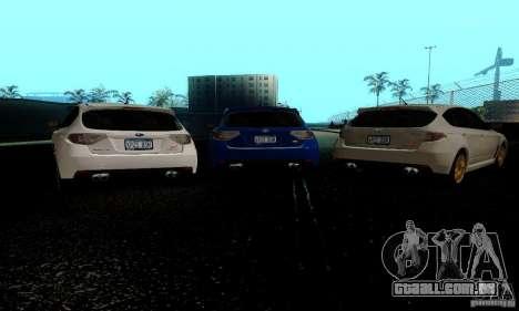 2008 Subaru Impreza Tuneable para GTA San Andreas traseira esquerda vista