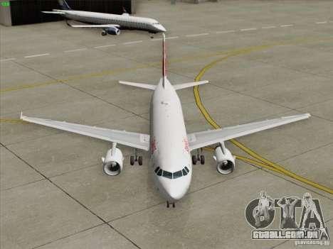 Airbus A319-112 Swiss International Air Lines para GTA San Andreas vista inferior