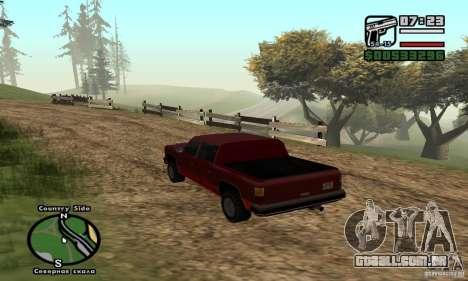 Rancher 4 Doors Pick-Up para GTA San Andreas traseira esquerda vista