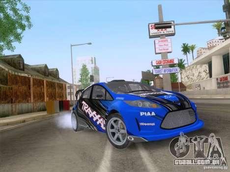 Ford Fiesta para vista lateral GTA San Andreas