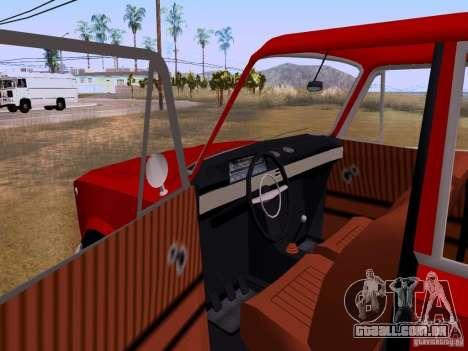 VAZ 2102 para GTA San Andreas vista interior