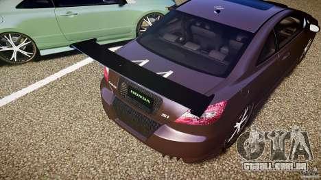 Honda Civic Si Tuning para GTA 4 rodas