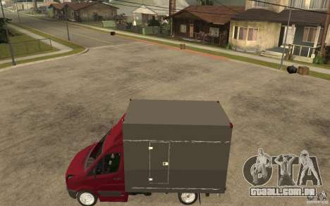Volkswagen Crafter Case Closed para GTA San Andreas esquerda vista
