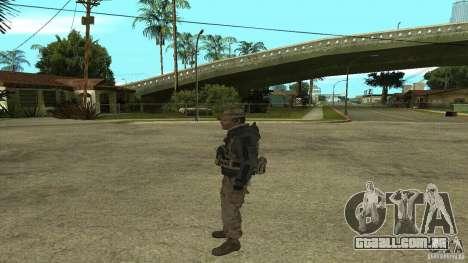 Captain Price para GTA San Andreas por diante tela