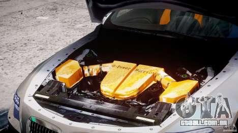 BMW M6 G-Power Hurricane para GTA 4 vista de volta