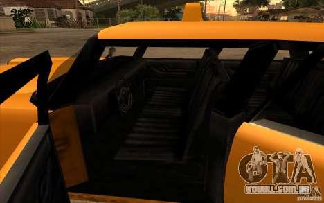 Glendale Cabbie para GTA San Andreas traseira esquerda vista