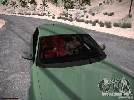 Audi RS3 2011 para vista lateral GTA San Andreas