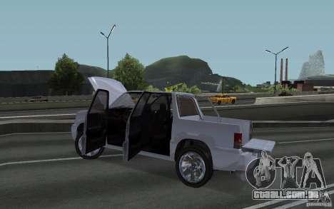 Cavalgada FXT do GTA 4 para GTA San Andreas vista traseira