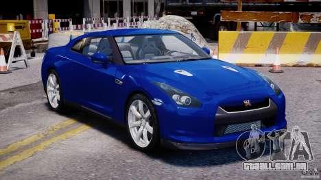 Nissan Skyline GT-R R35 para GTA 4 vista de volta