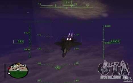 A mesosfera em vôo para GTA San Andreas por diante tela