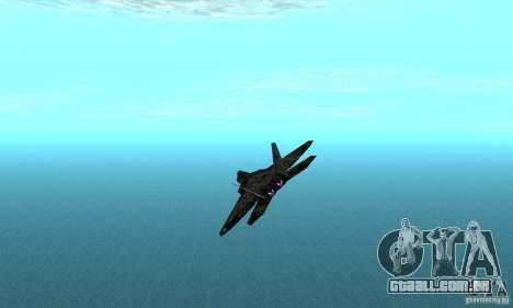 F-22 Raptor Graffity Skin 2 para GTA San Andreas traseira esquerda vista