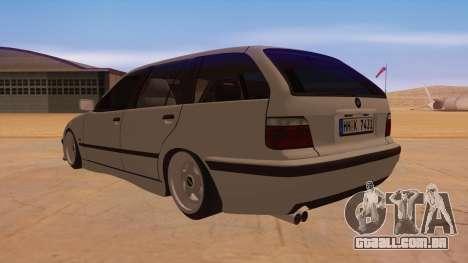 BMW M3 E36 Touring para GTA San Andreas traseira esquerda vista