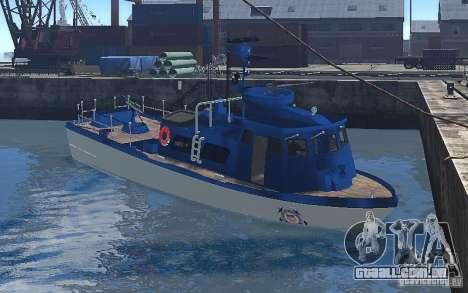 Coast Guard Patrol para GTA 4 esquerda vista
