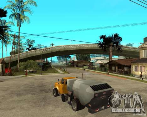 Caminhão de limpeza para GTA San Andreas esquerda vista