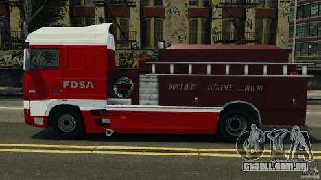 DAF XF Firetruck para GTA 4 esquerda vista