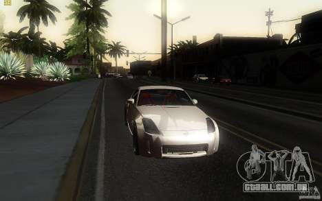 Nissan 350z Speedhunters para GTA San Andreas vista traseira