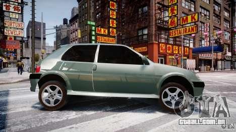 Peugeot 106 Quicksilver para GTA 4 esquerda vista