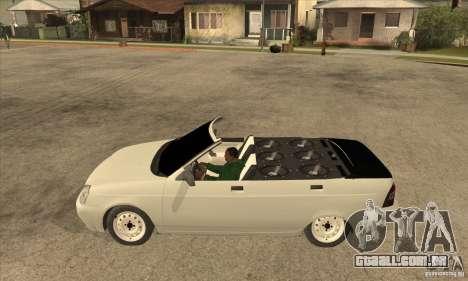 VAZ LADA Priora conversível para GTA San Andreas esquerda vista