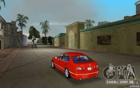 Lexus GS430 para GTA Vice City vista traseira esquerda
