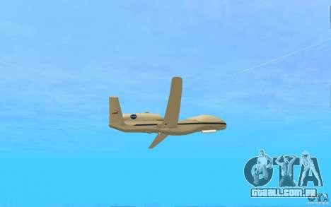 Grumman RQ-4 para GTA San Andreas vista direita