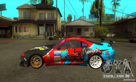 Toyota Supra Evil Empire para GTA San Andreas esquerda vista