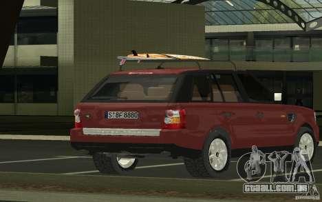 Land Rover Range Rover 2007 para GTA San Andreas esquerda vista