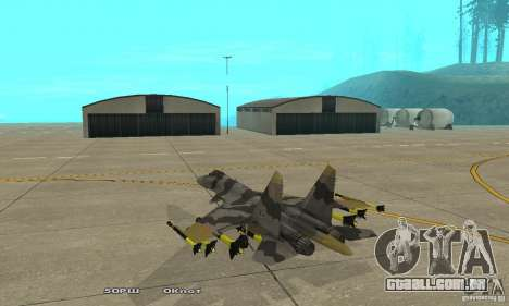 Su-37 Terminator para GTA San Andreas traseira esquerda vista