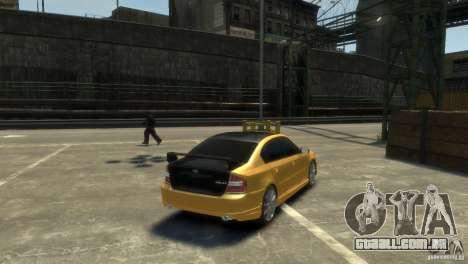 SUBARU Legacy B4 tuning para GTA 4 esquerda vista
