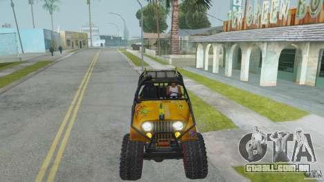 Jeep CJ-7 4X4 para GTA San Andreas vista traseira